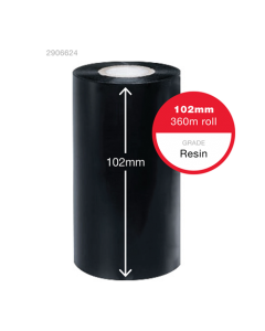 insignia Black Thermal Ribbon 102mm x 360m - Carbon Side In