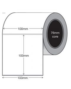 Plain White Tags - 100mm x 100mm (1000/roll)