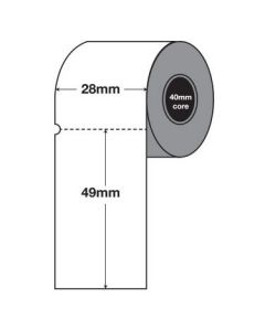 White Tags - 49mm x 28mm (2000/roll)