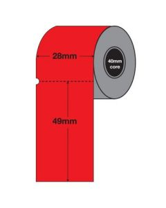 Red Tags - 49mm x 28mm (2000/roll)