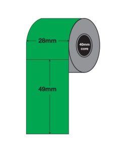 Green Tags - 49mm x 28mm (2000/roll)