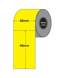 Yellow Tags - 49mm x 28mm (2000/roll)