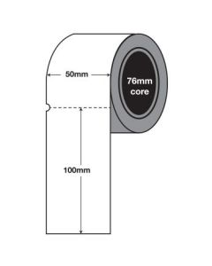 Plain White Tags - 100mm x 50mm (3000/roll) - Perforated