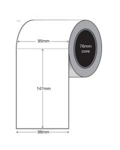 White Thermal Transfer Labels - 95mm x 147mm (1000/roll)