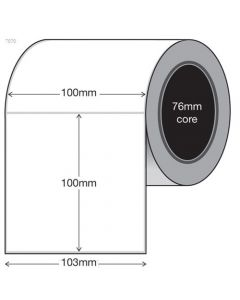 White Thermal Transfer Labels - 100mm x 100mm (1500/roll)