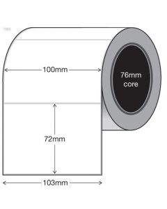 White Thermal Transfer Labels - 100mm x 72mm (2000/roll)