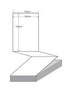 White Thermal Transfer SSCC Labels 105mm x 148mm (1500/bundle) - Fan Fold