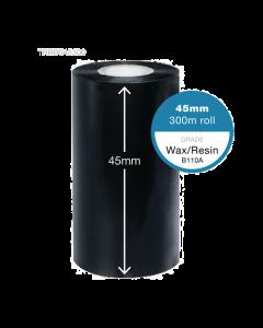 Ricoh Black Thermal Ribbon 45mm x 300m - Carbon Side Out